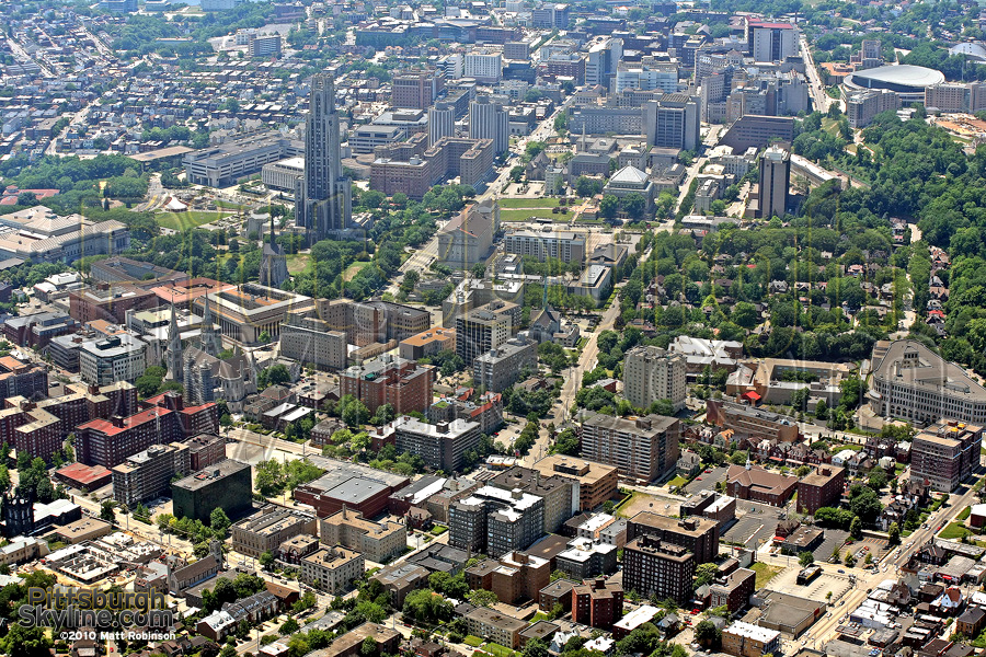 Aerial of the University of Pittsburgh