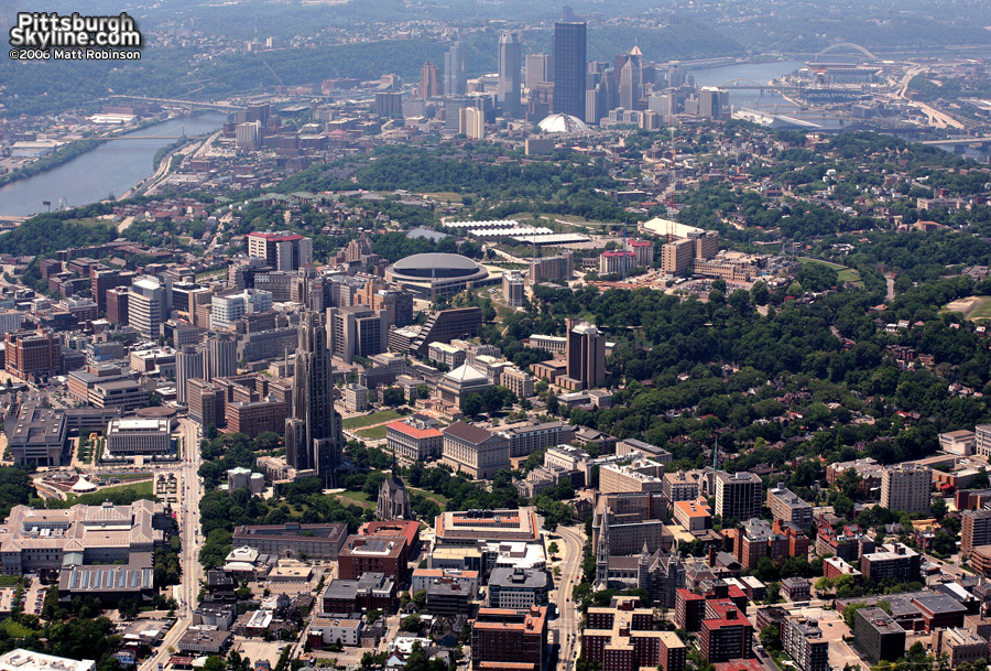 Pittsburgh aerial with Oakland