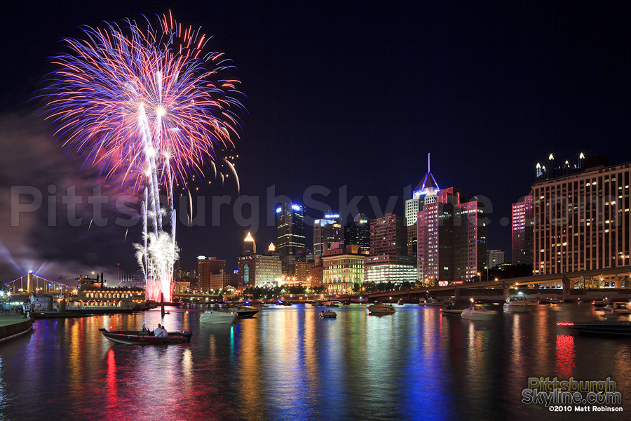 Fireworks night in Pittsburgh