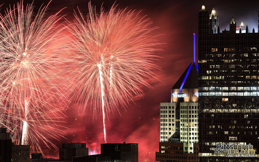 Zambelli Fireworks light up the sky in Pittsburgh.