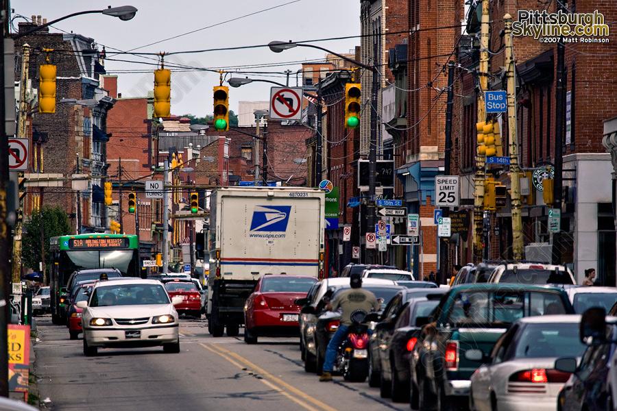 East Carson Street.