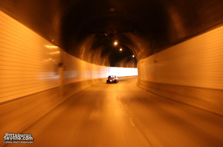 Inside the Armstrong Tunnel, Pittsburgh