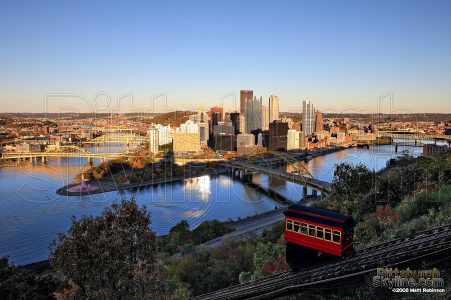 Duquesne Incline with Autumn colors.