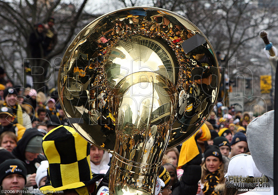 The city was out in full force to celebrate our Steelers.