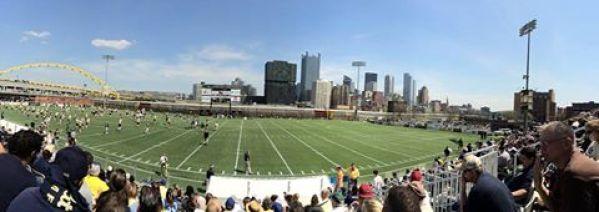 Pitt's Blue-Gold game was played at Highmark Stadium on Saturday.