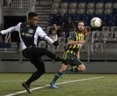 Max Touloute provided a second half boost for the Riverhounds in their first match against Rochester in April.