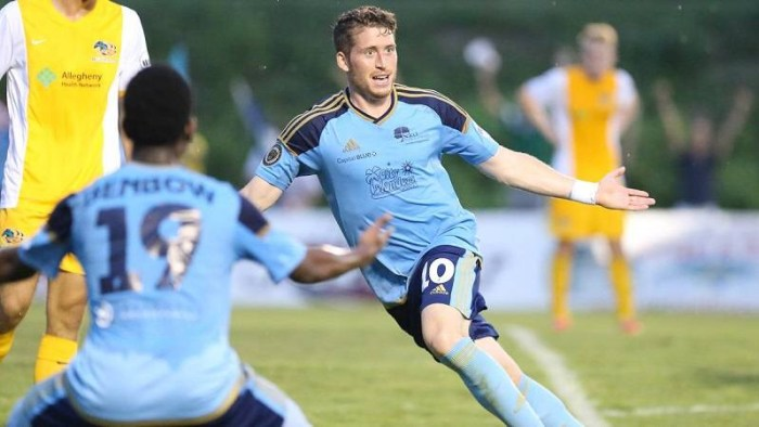 This time it was Harrisburg who pulled off the remarkable comeback -- to stun the Riverhounds, 4-3 on Sunday.