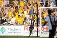 Rob Vincent Celebrates goal vs DC United. Photo courtesy Riverhounds.com