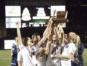 Undefeated WPIAL Class AAA Champs, Norwin girls celebrate at Highmark Stadium (Nov. 2015)
