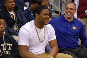 Donovan Jeter with Pat Narduzzi at Pitt Junior Day | Pittsburgh Sports Now