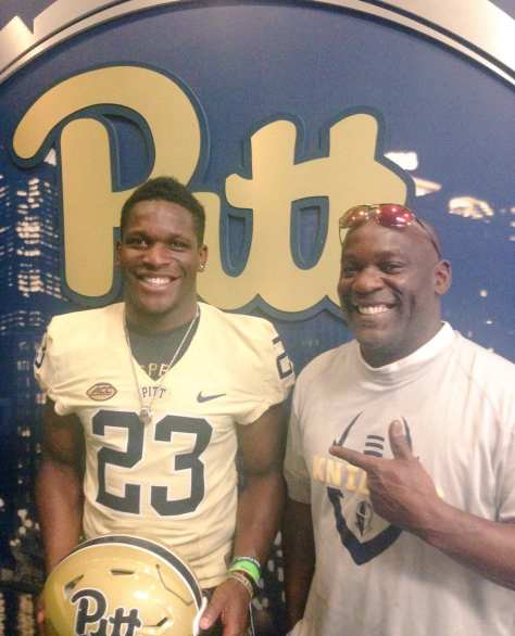 Todd Sibley visiting Pitt - Photo courtesy of Todd Sibley