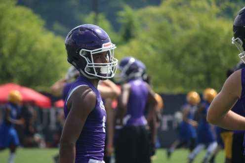 Player in Purple at Pitt 7x7 Camp (Photo credit: Joe Steigerwald)