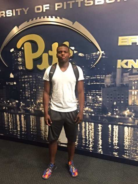 Javar Garrett visiting Pitt - Photo courtesy of Javar Garrett