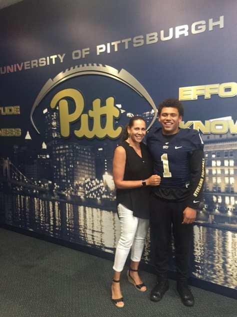 Connor Heyward at Pitt, photo courtesy of Connor Heyward