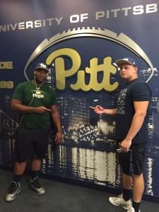 Josh Fedd-Jackson with Pitt commit Owen Drexel