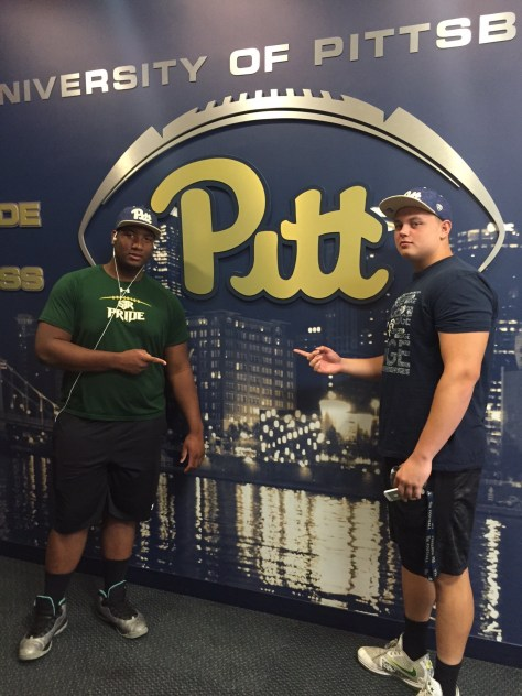 OL Josh Fedd-Jackson with Pitt commit Owen Drexel - Photo courtesy of Josh Fedd-Jackson