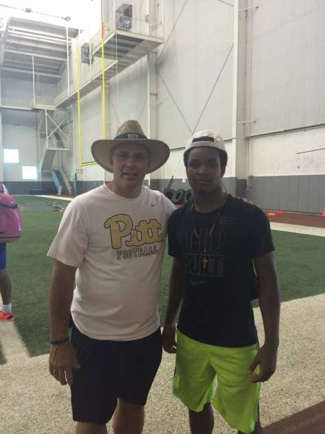 Ohio CB Josiah Scott visiting Pitt - Photo courtesy of Josiah Scott