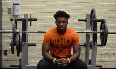 Lamont Wade works out at Clairton High School