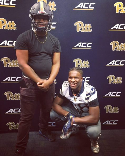 Lamont Wade visiting Pitt - Photo courtesy of Lamont Wade