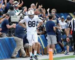 Mike Gesicki after INT in final mins September 10, 2016 (Photo credit: David Hague)