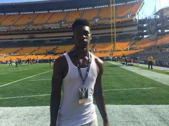 Kwantel Raines at Heinz Field (Photo credit: Mike Vukovcan)