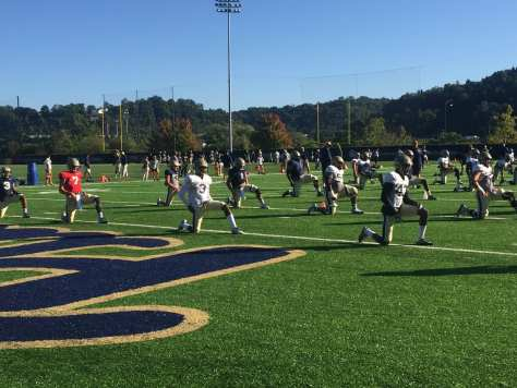 Pitt practice (Photo credit: Alan Saunders)