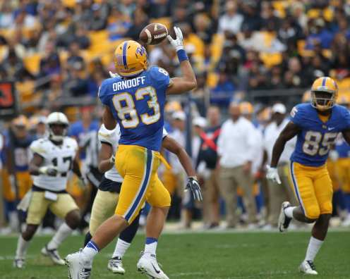 Scott Orndoff reels in a touchdown. -- DAVID HAGUE