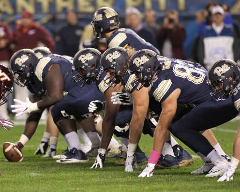 Offensive Line October 27, 2016 (Photo credit: David Hague)