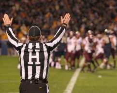 Ref rules a touchdown for Pitt (Photo credit: David Hague)