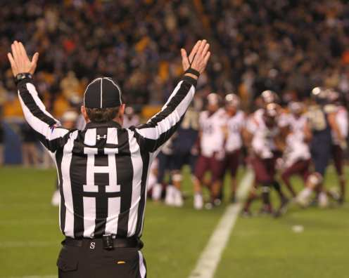 Ref rules a touchdown for Pitt (Photo credit: David Hague)