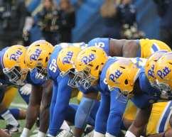 Pitt throwback helmets (Photo by: David Hague)