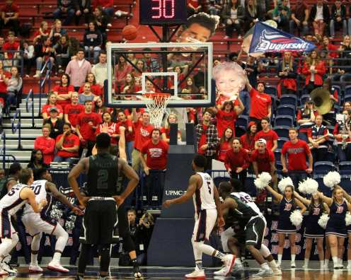 Duquesne Student Section November 11, 2016 (Photo by: David Hague)