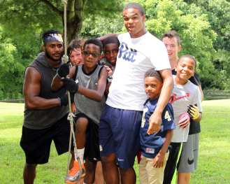 Pitt Freshman at the Mel Blount Youth Leadership Initiative (Photo by David Hague)