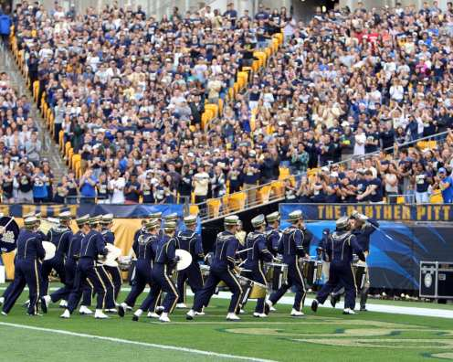 Pitt Drum Line during pregame September 2, 2017 -- David Hague