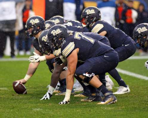 Pitt Offensive Line October 28, 2017 -- David Hague
