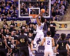 Marvin Bagley III (35) dunks against Pitt on January 10, 2018 -- DAVID HAGUE