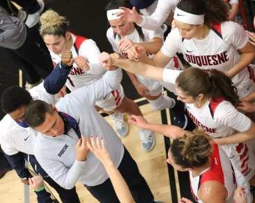 Duquesne Women Basketball Dan Burt January 8, 2021 Photo by David Hague/PSN