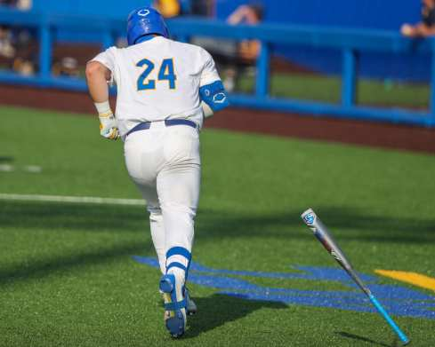 David Yanni (24) Pitt Baseball April 6, 2021 Photo by David Hague/PSN