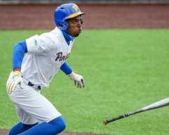 Jordan Anderson (5) Pitt Baseball April 17, 2021 Photo by David Hague/PSN