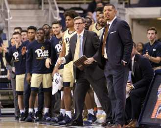 Jeff Capel and Pitts bench January 9, 2019 -- David Hague/PSN