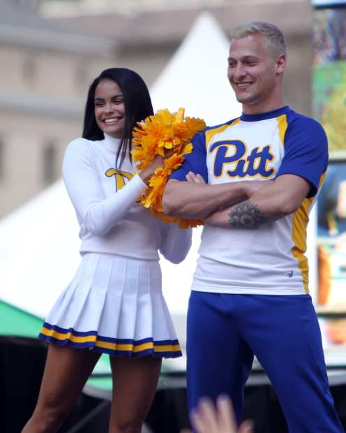 Pitt Cheerleading April 7, 2019 -- David Hague/PSN