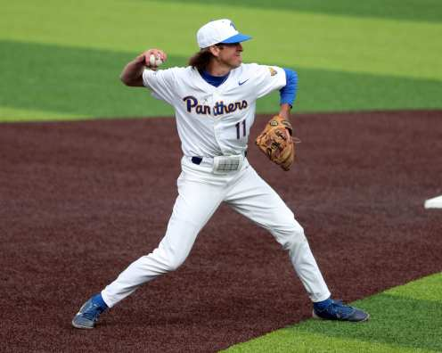 Brock Franks (11) Pitt Baseball March 26, 2021 - Photo by David Hague/PSN