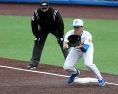 Bryce Hulett (15) Pitt Baseball March 26, 2021 - Photo by David Hague/PSN