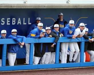 Pitt Baseball Dugout Pitt Baseball March 26, 2021 - Photo by David Hague/PSN
