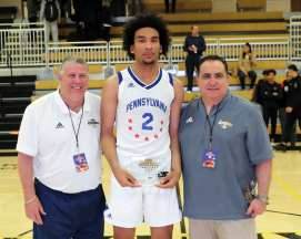 Justin Champagnie (2) wins MVP for Team PA All Stars in the PBC Roundball Classic April 28, 2019 -- David Hague/PSN