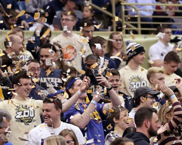 Oakland Zoo Pitt Student section March 9, 2019 -- David Hague/ PSN