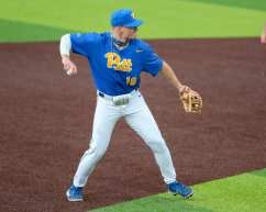Matt Tarabek (18) Pitt Baseball March 28, 2021 - Photo by David Hague/PSN