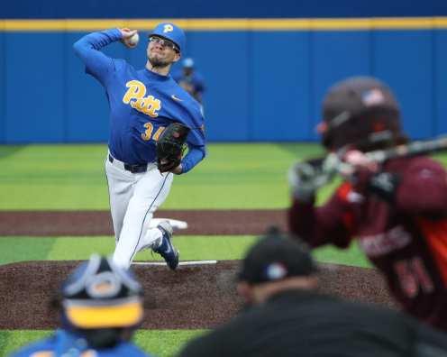 Chris Gomez (34) Pitt Baseball March 28, 2021 - Photo by David Hague/PSN