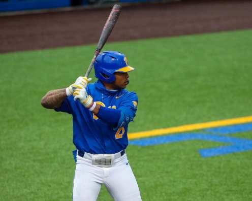 Ron Washington Jr. (23) Pitt Baseball March 28, 2021 - Photo by David Hague/PSN