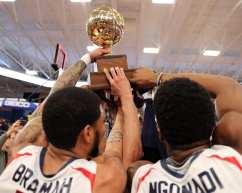RMU Celebrate with the NEC championship March 10, 2020 -- David Hague/PSN